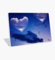 Surrealist romantic love hearts surreal sky multiple exposure Laptop Skin