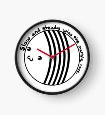 Marble Racing - langsam und stetig (weiß / transparent) Uhr
