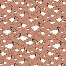 Ibis pattern (ochre) by Matt Mawson