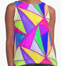 Abstract Triangles in Bright Colors Contrast Tank