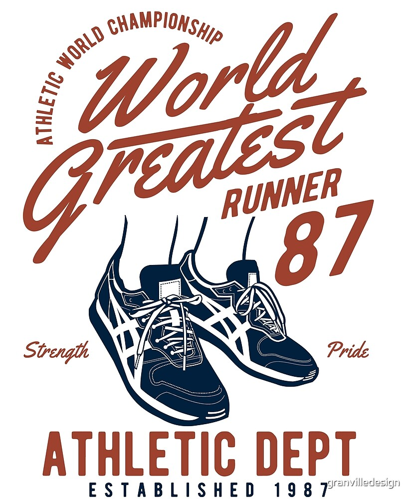 Runner Running Worlds Greatest by granvilledesign