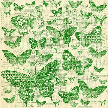 shabby green butter flies pattern,shabby chic, green ,butterflies, pattern, victorian,belle epoque,vintage,rustic,french chic, wedding by love999
