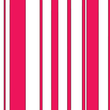 Pink and White Stripes by wordznart