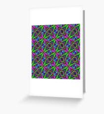 Neon Diamond Pattern Greeting Card