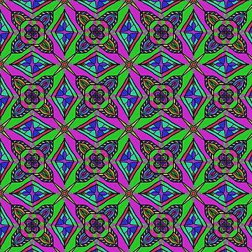 Neon Diamond Pattern by BHDigitalArt