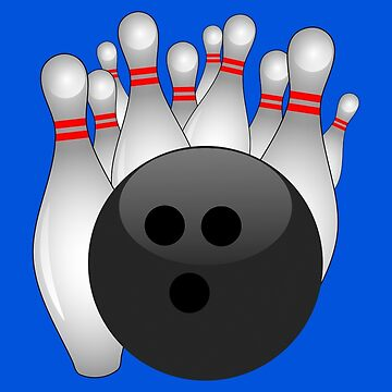Bowling Ball with Pins by Gravityx9