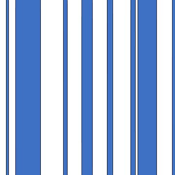 Blue and White Stripes by wordznart