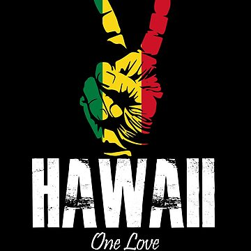 One Love Hawaii Peace Sign by MikeMcGreg