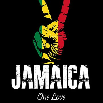 One Love Jamaica Peace Sign by MikeMcGreg