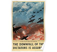 "WW2 War Poster - Vintage Propaganda Poster ""Downfall of Dictators"" Poster"