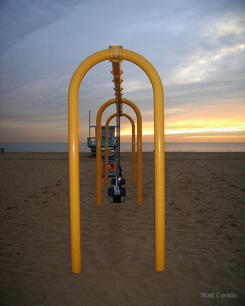 3 Swings at Sunset by Walt Conklin
