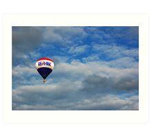 Balloon in the sky Art Print