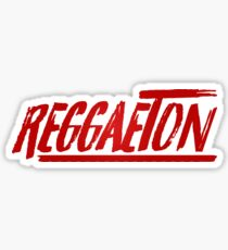 Reggaeton Red Stylized Sticker