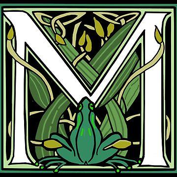 Nouveau Frog Letter M 2018 by Donnahuntriss