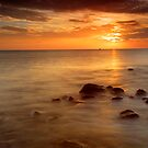 Firth of Thames coast at sunset 3 by Paul Mercer