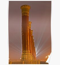 Columns and Lights Poster