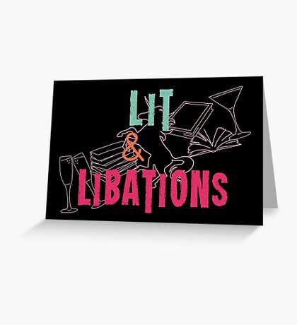 Lit & Libations Greeting Card