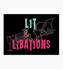 Lit & Libations Photographic Print