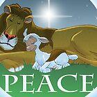 Lion & Lamb Peace by Gerard de Souza