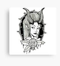 Demon girl Canvas Print