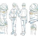 My Hero Academia Best Jeanist Character Sketch by Adam Del Re