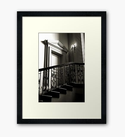 The Door At The Top Of The Stairs Framed Print