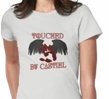 Touched By Castiel Womens Fitted T-Shirt