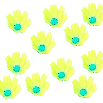 Yellow Flowers Pattern by thunderteam79
