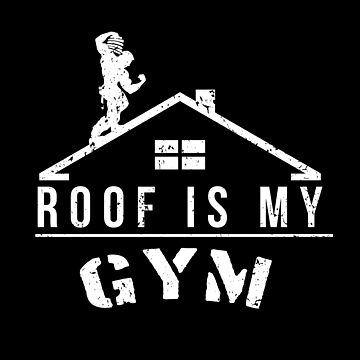 Roof is my Gym (Winter Edition) by CCCDesign