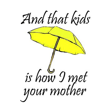 How I Met Your Mother Yellow Umbrella by BelleInconnue