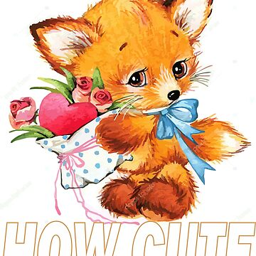 fox cute cartoon SHIRTS by wicala