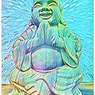 Rainbow Laughing Buddha by DesJardins
