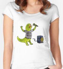Karaoke Newt Women's Fitted Scoop T-Shirt