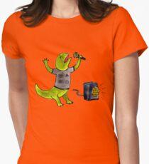 Karaoke Newt Women's Fitted T-Shirt