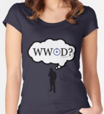 What Would John Do? Silhouette variant Women's Fitted Scoop T-Shirt