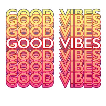 GOOD VIBES - THANK YOU bag variation by VelcroFathoms