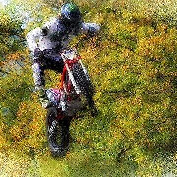 Extreme Biker - Dirt Bike Rider by NaturePrints