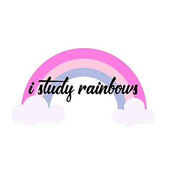 i study rainbows by allysdesigns
