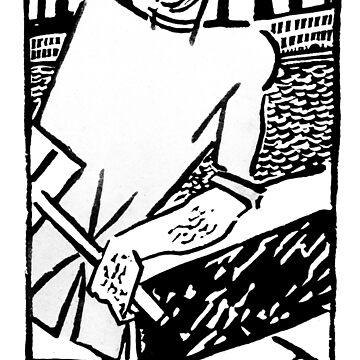 Vladimir Kozlinsky Rosta Poster from Petrograd, 1920 by Talierch