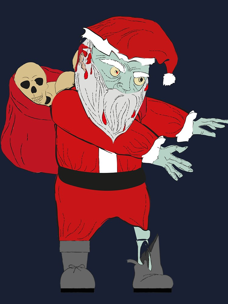 Christmas Zombie Santa.Scary Funny Dabbing Zombie Santa Claus Halloween Christmas Gift Baby One Piece