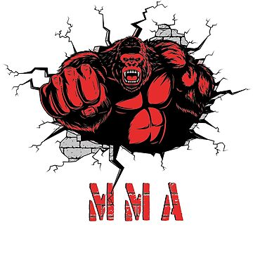 MMA, Beast Gorilla Fighter, Mixed Martial Arts, Power, Fist  by MDAM