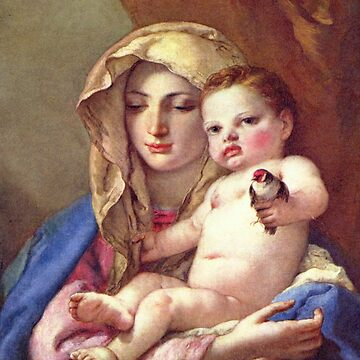 Madonna of the Goldfinch-Giovanni Battista Tiepolo by LexBauer