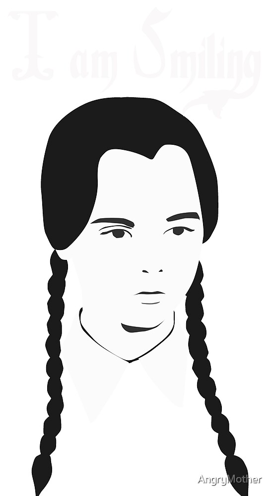Wednesday Addams - I am Smiling by AngryMother