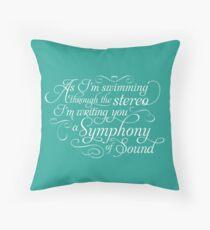 Symphony of Sound Throw Pillow