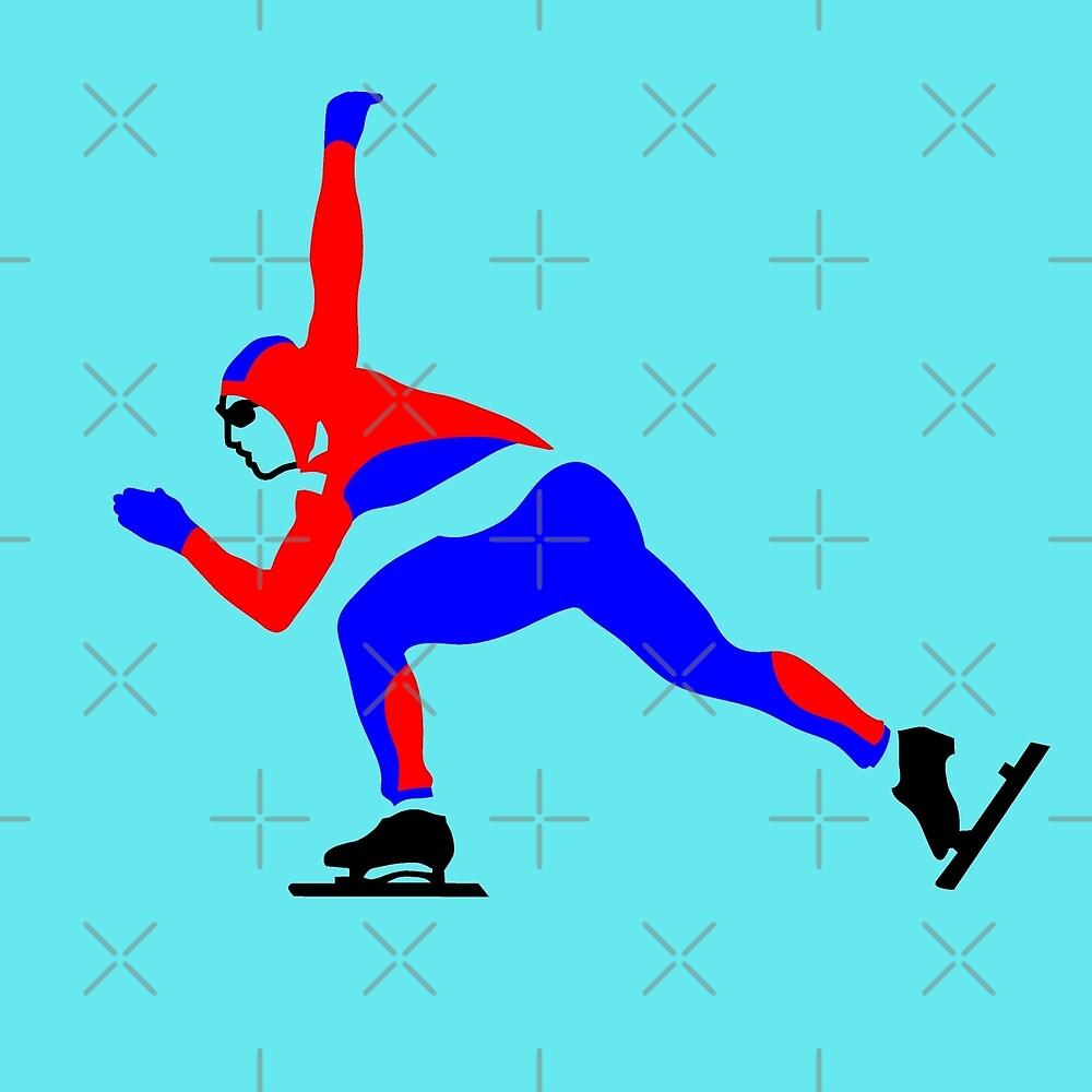 Speed Skating by Sibo Miller
