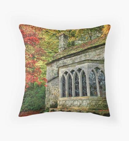 The Gothic Cottage, Stourhead Throw Pillow