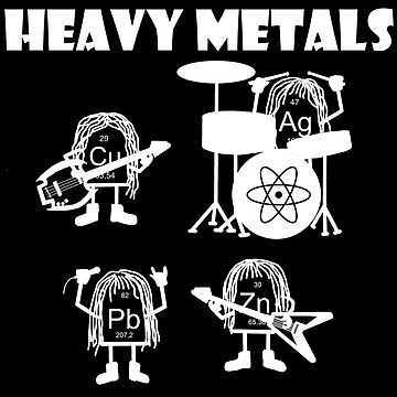 Heavy metals rock, chemistry, physics - periodic table of elements by Garaunt