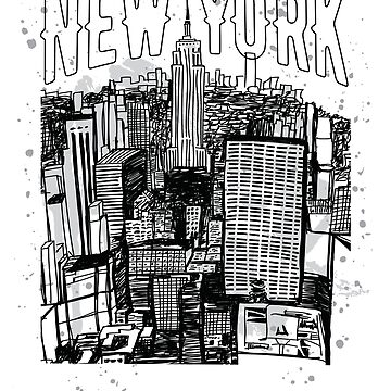 New York Empire State Building Retro Skyline Souvenir by peter2art