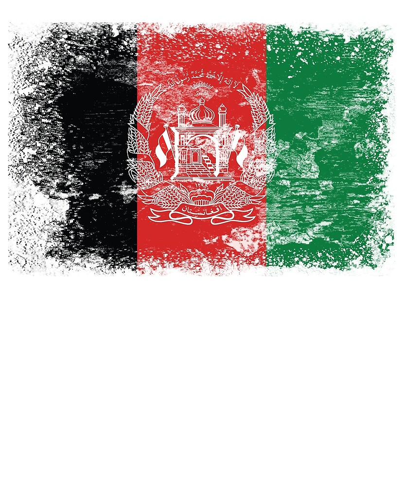 Afghanistan Flag by Christian Strang