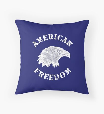 American Freedom Bald Eagle Throw Pillow